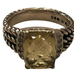 David Yurman Wheaton Petite Lemon Citrine ring